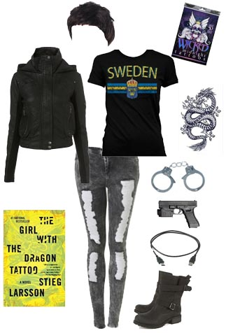 The girl with the dragon tattoo halloween costume for The girl with the dragon tattoo t shirt
