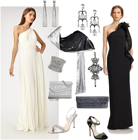 What to wear to the winter wonderland ball for Jewelry accessories for black dress