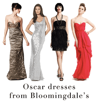 Oscar Dresses from Bloomingdales
