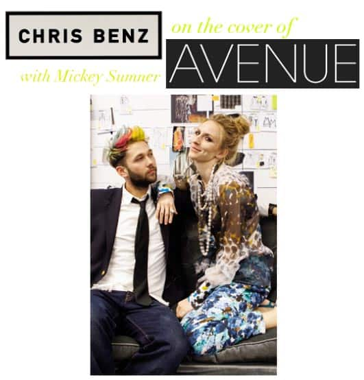Chris Benz on the Cover of Avenue