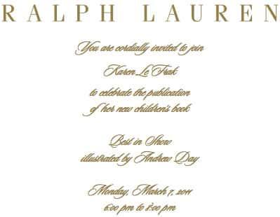 Karen LeFrak at Ralph Lauren