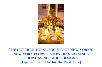 The Horticultural Society of New York Dinner Dance