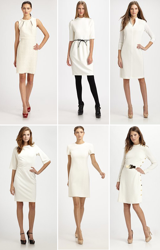 What to wear: Winter white dresses from Saks.com