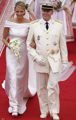 Karen Klopp What To Wear Where ,Royal Wedding.  Monaco's Prince Albert II and Princess Charlene.