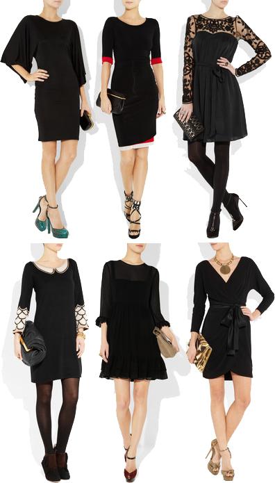 How to wear black jersey dress