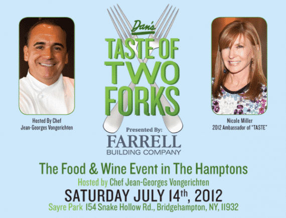 Dan's Taste of Two Forks 2012 with Chef Jean-Georges