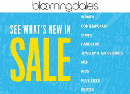 Bloomingdale's Sale