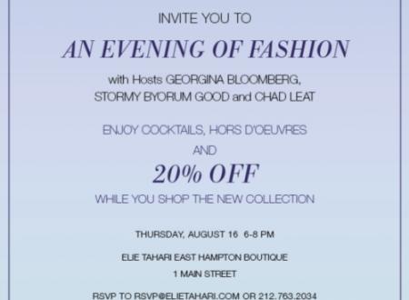 An Evening of Fashion - Elie Tahari and the Hampton Classic