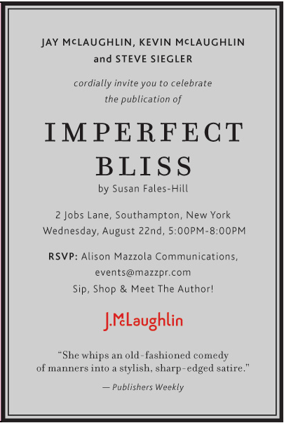 Celebrate the publication of Imperfect Bliss