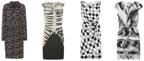 Transitional Dresses in Black & White