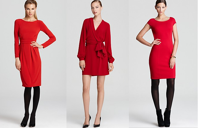 Red Dresses from Bloomingdales