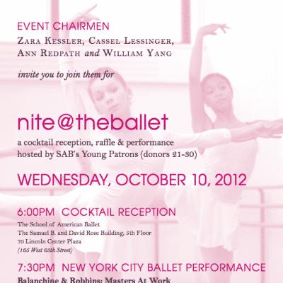 nite@theballet The School of American Ballet