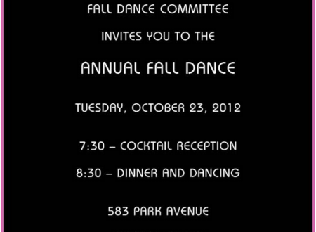 The Boys Club of New York Annual Fall Dance