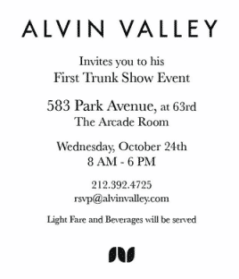 Alvin Valley Trunk Show