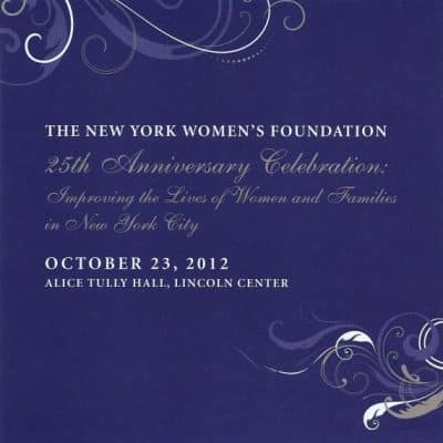 NY Women's Foundation 25th Anniversary Celebration