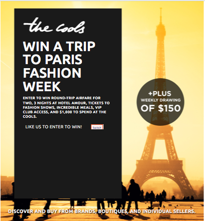 the cools win a trip to paris