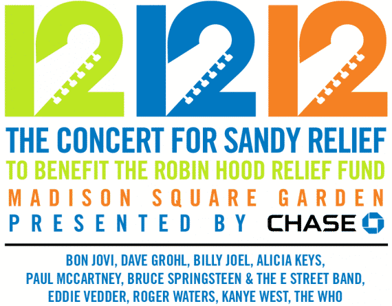 12.12.12 Concert for Sandy Relief