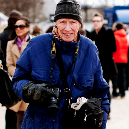 New York Times Bill Cunningham On the Street at Fashion Week