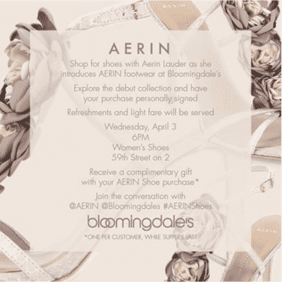 Aerin Lauder at Bloomingdales