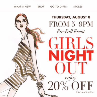 Henri Bendel Girls night out