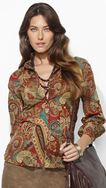 RL Paisley Top