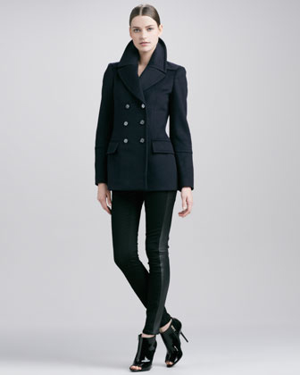 Burberry London Wool-Cashmere Peacoa