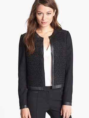 Elie Tahari Mixed Media Jacket
