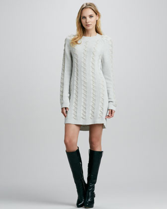 Theyskens' Theory Karessa Cable-Knit Sweaterdress