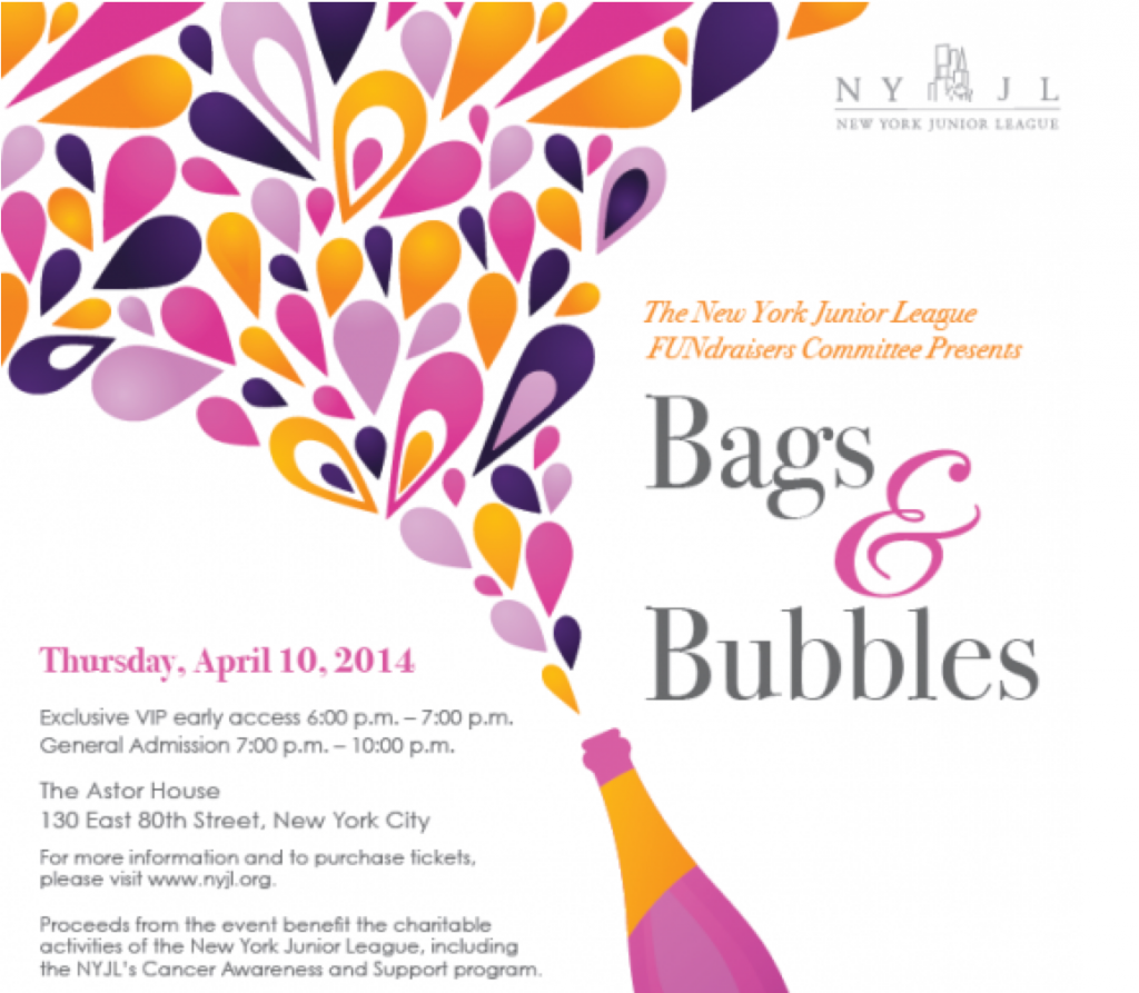 junior league bags and bubbles