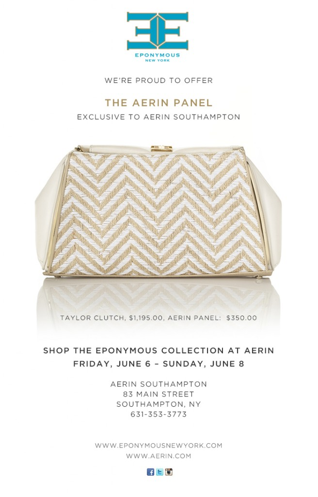 EPONYMOUS NY Aerin Southampton Trunk Show_June 6
