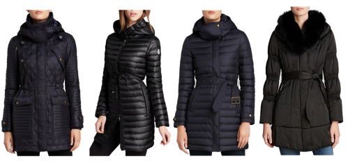 2397bce2e moncler barbel quilted puffer coat with fur trim