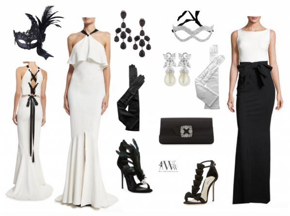 what to wear black & white ball