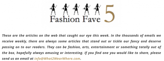 fashion fave five