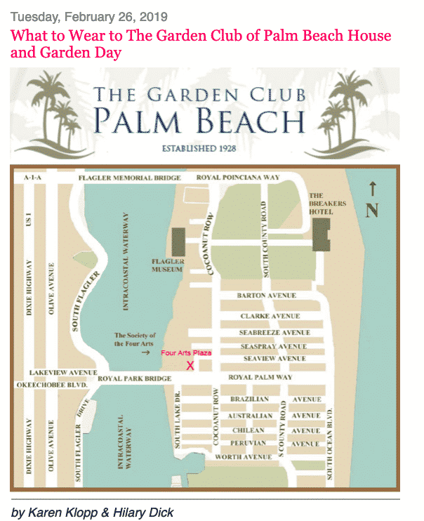 What to Wear to The Garden Club of Palm Beach House and Garden Day