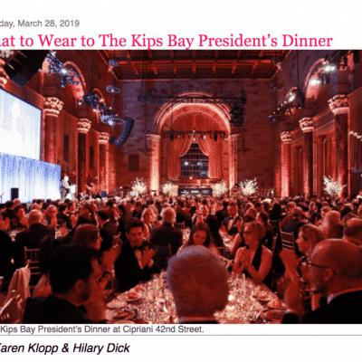 what to wear kips bay presidents's dinner