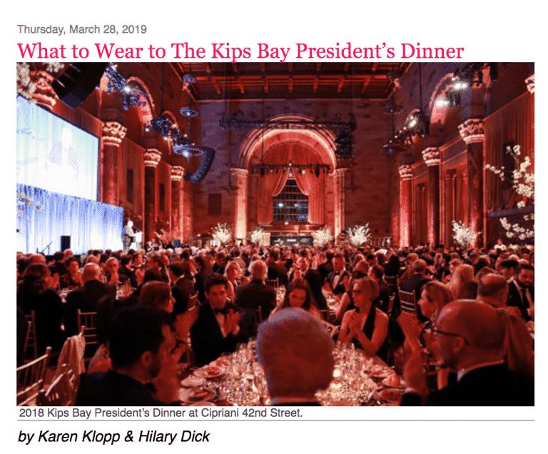 NYSD Kip's Bay President's Dinner