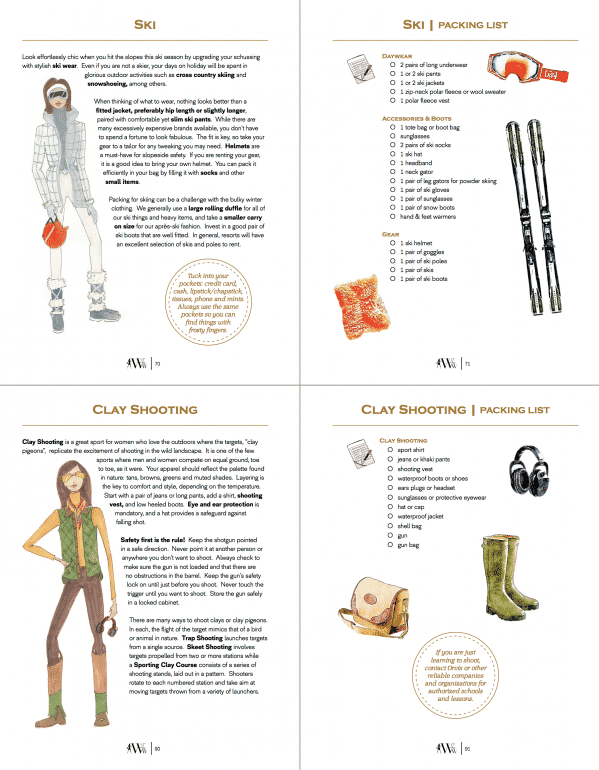 Sample page, Packing For Travel Book.