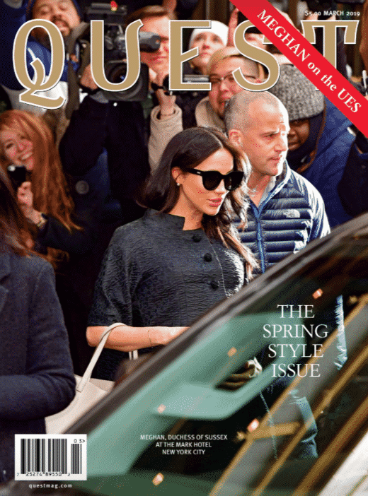 Quest Magazine, Spring Style Issue, Meghan Markle on the Upper East Side