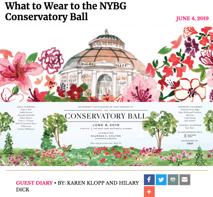 CONSERVATORY BALL on NYSD