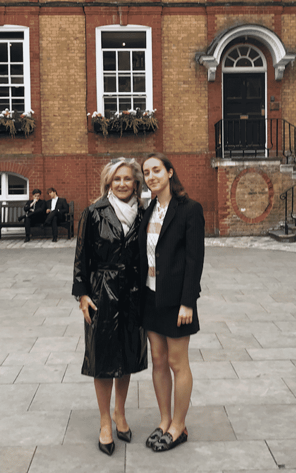 Karen Klopp at Westminster School graduation in London