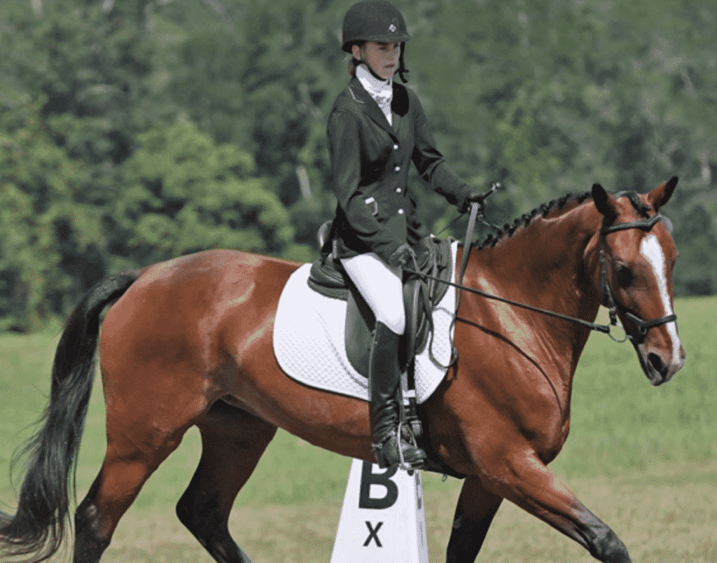 What to wear when horse riding Dressage as part of Equestrian Eventing.