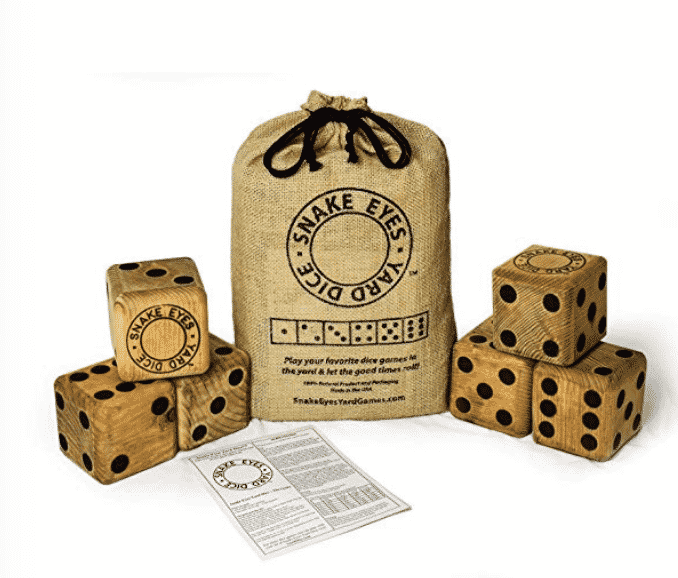 Lawn Dice Game for How to be a Good Houseguest